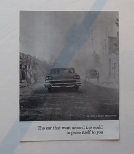 1958 Ford Brochure The Car That Went Around the World