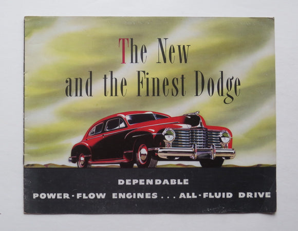 1942 Dodge Brochure De Luxe Coupe