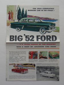 1952 Ford Brochure Mainline Customline