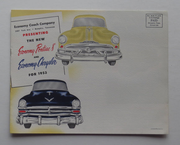 1953 Ford Pontiac Chevrolet Brochure