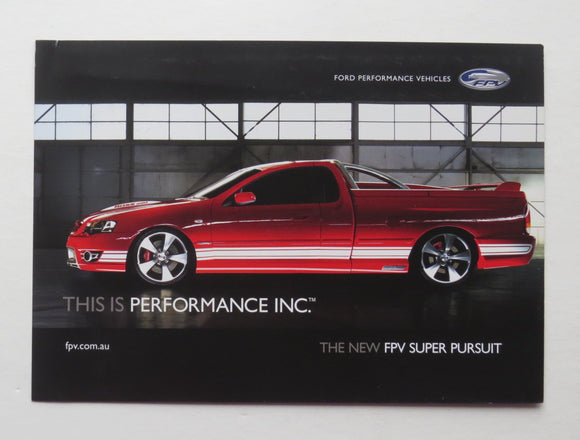 2006 Ford Catalog Sheet FPV Suer Pursuit Truck