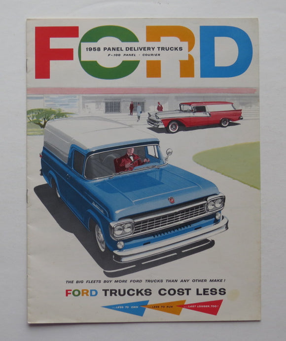 1958 Ford Brochure Panel Delivery Truck