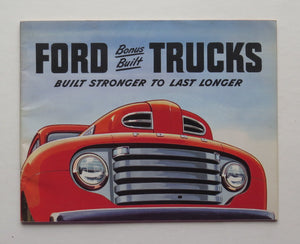 1950 Ford Brochure Pickup Truck