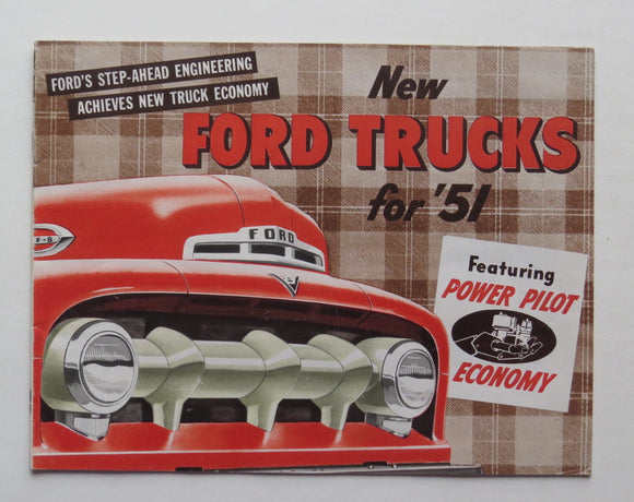 1951 Ford Brochure Truck Power Pilot