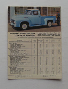 1955 Ford Postcard Truck F-100 Fordomatic