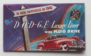 1941 Dodge Brochure Luxury Liner Fluid Drive
