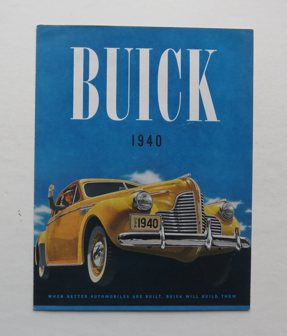 1940 Buick Brochure 40 50 60 70 80 90 Series