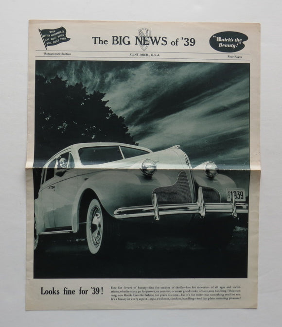1939 Buick Brochure The Big News