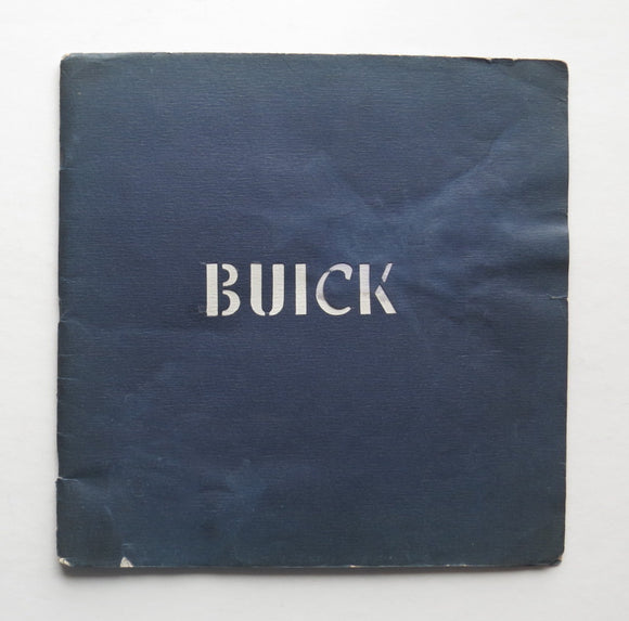 1933 Buick Brochure 60 80 90 Series