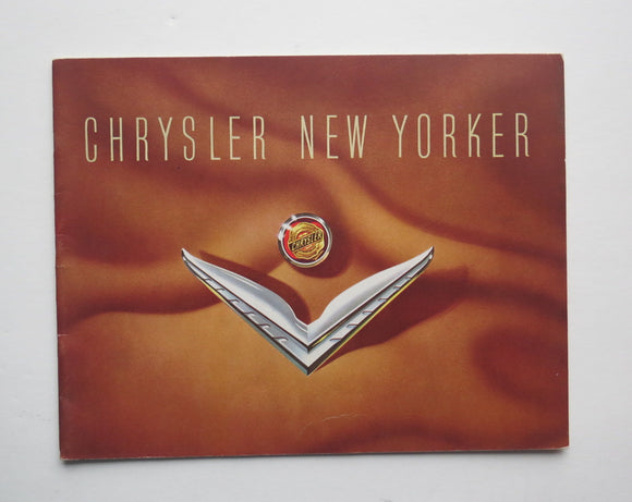 1953 Chrysler Brochure New Yorker