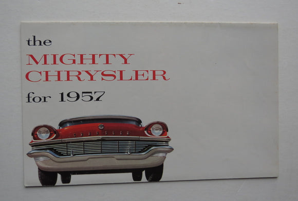 1957 Chrysler Brochure Windsor Saratoga