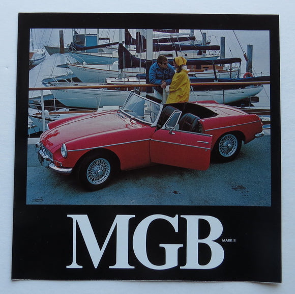 1968 Morris Garages MGB Mark II Brochure