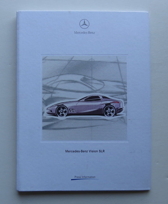 1999 Mercedes Benz Vision SLR Press Information Brochure