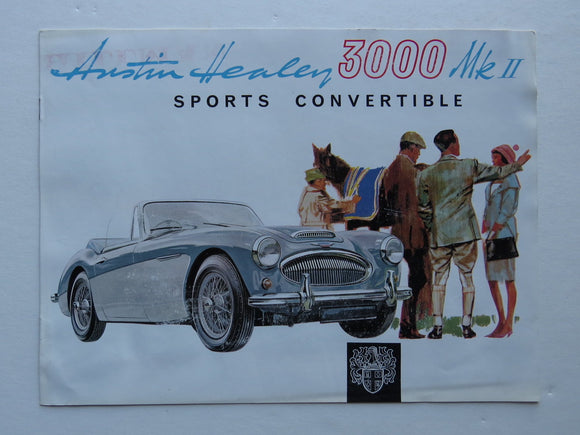 c. 1962 Austin Healey 3000 MKII Sports Convertible Brochure