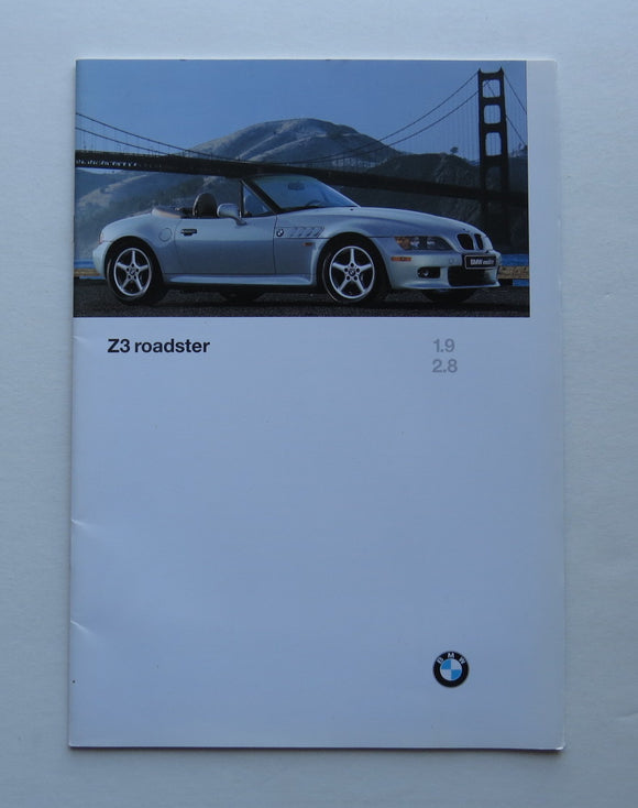 1997 BMW Z3 Roadster 1.9 2.8 Brochure