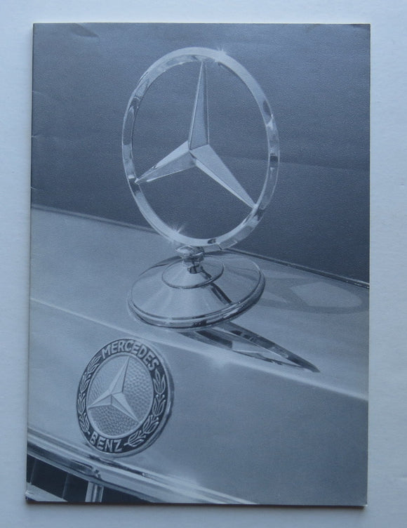 1975 Mercedes Benz Full Line Brochure 450SLC SEL 280S 280C 300D 240D