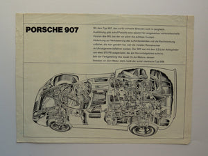 c. 1982 Porsche 907 Racing Brochure German