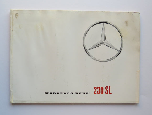 1964 Mercedes Benz 230SL Brochure French