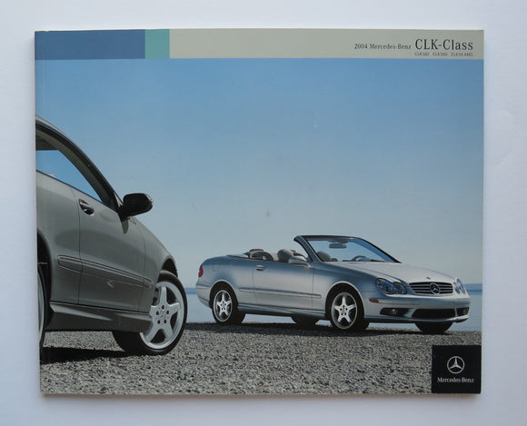2004 Mercedes Benz CLK Brochure 320 500 55 AMG