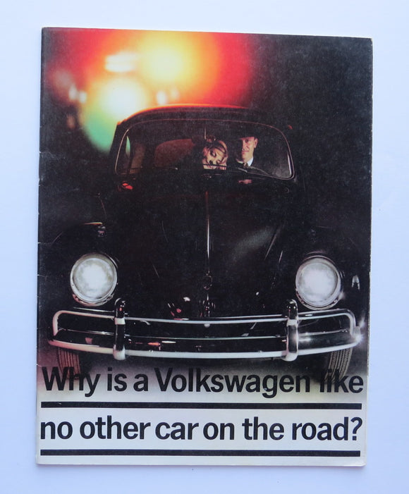 1960 Volkswagen Owners Brochure Beetle
