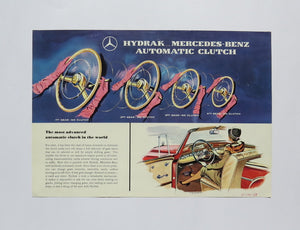 1958 Mercedes Benz Hydrak Automatic Clutch Brochure