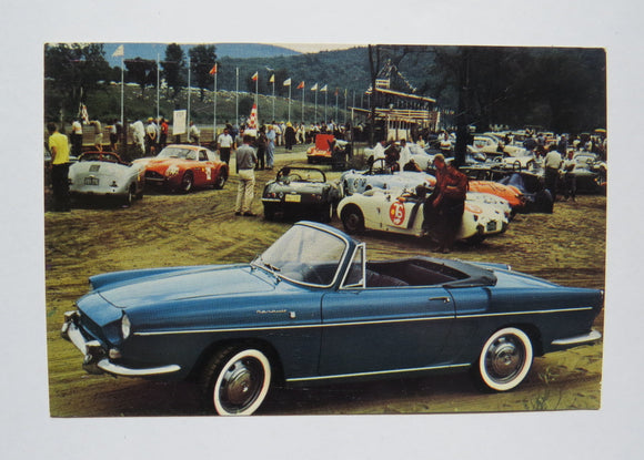 c. 1970 Renault Sports Convertible Postcard