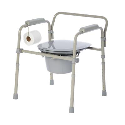 Bedside Commode with Toilet Paper Holder