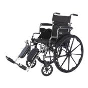 Deluxe Lightweight Wheelchair with Flip Back Desk Arms-20x18 With Elevating Legrests