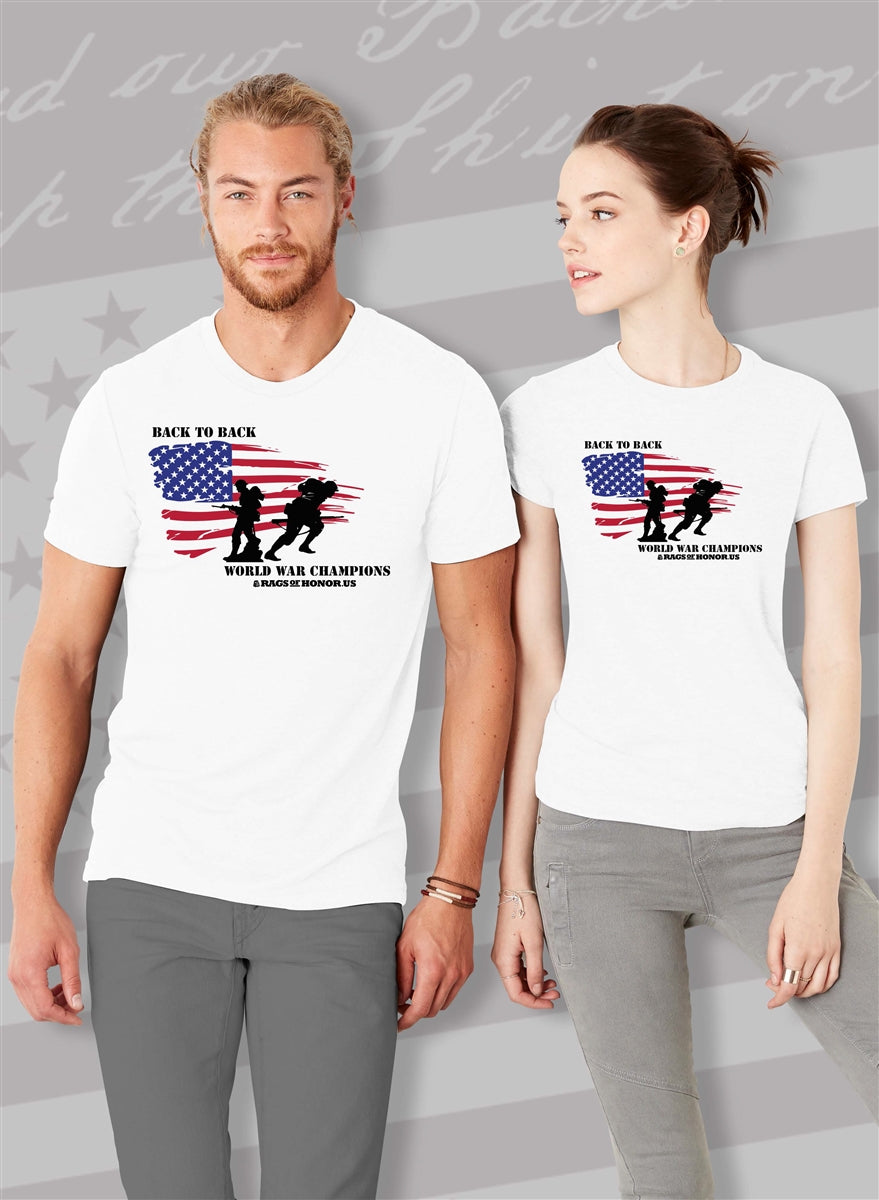 Back To Back Champs Flag Unisex T-Shirt