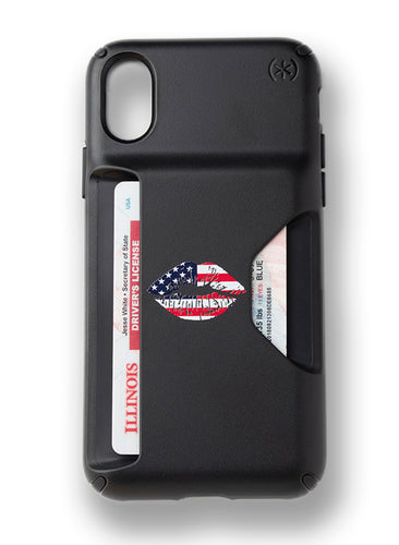 American Kiss Cardshark Case for iPhone X