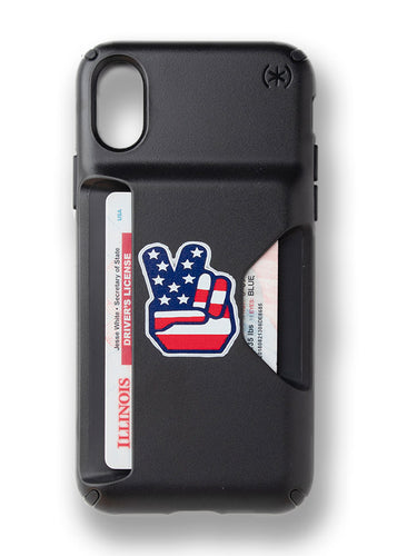 Peace Cardshark Case for iPhone XS
