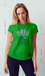 St. Patty's Day Clover Flag Tee