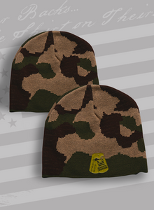 Rags of Honor Embroidered Dogtags Camo Winter Cap