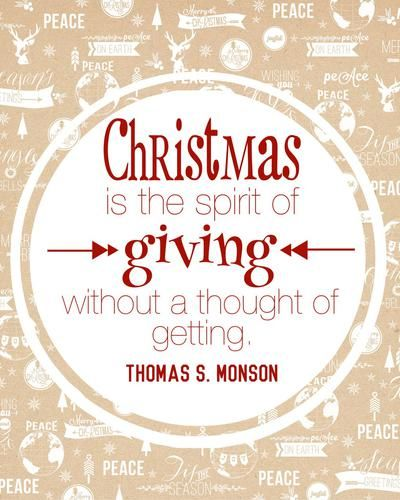 Be a Giver!! (T-minus 4 weeks-ish until Christmas!)