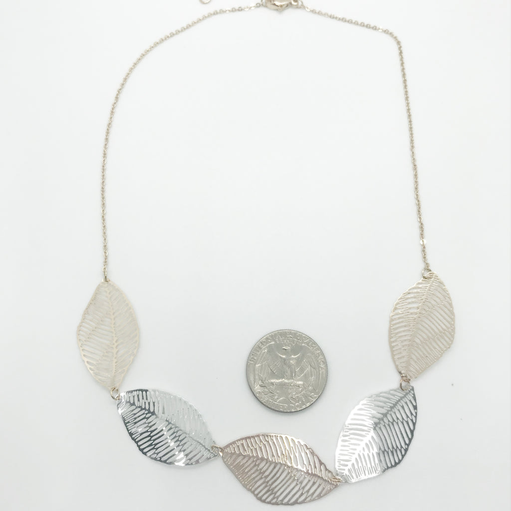 Dainty Multi Leaf Necklace