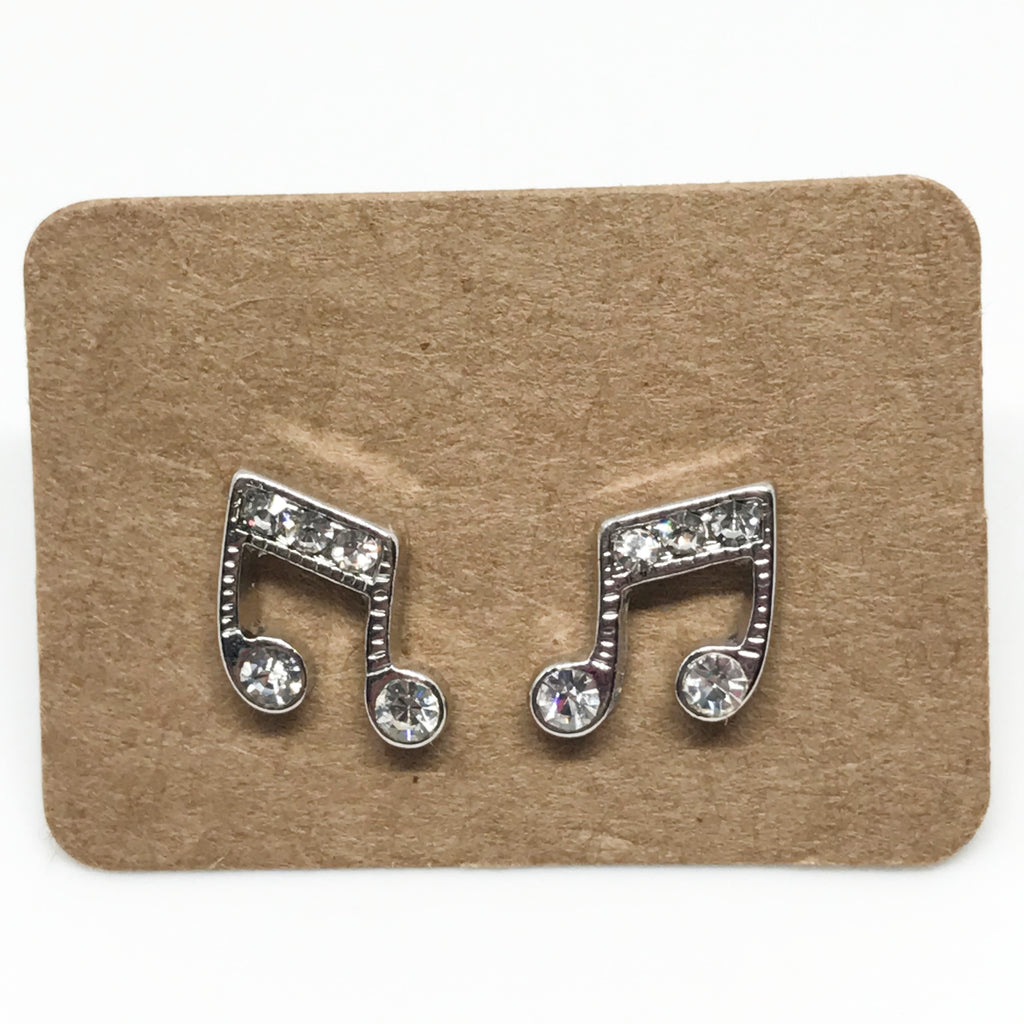 Bling Music Note Earring
