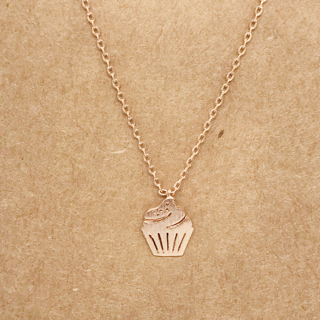 Cupcake Necklace-Rose Gold