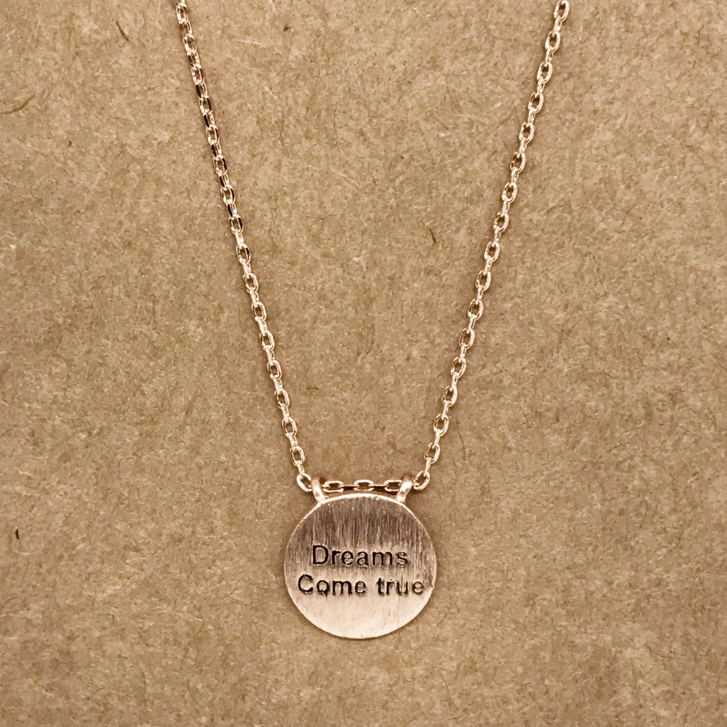 """Dreams Come True"" Necklace-Rose Gold"
