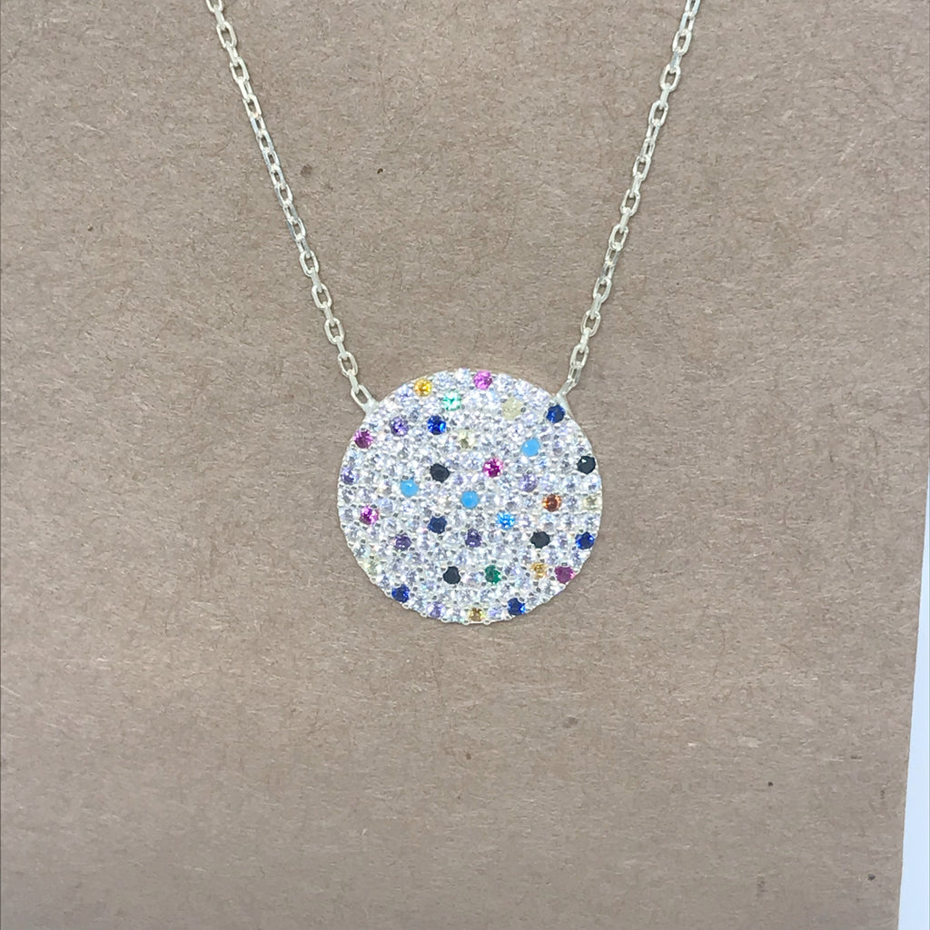 Sterling Silver Confetti Necklace