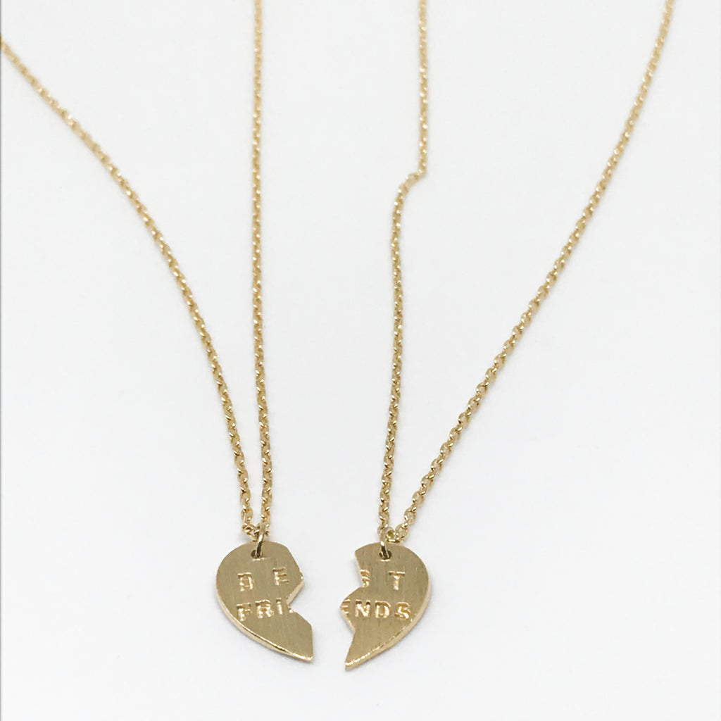 Classic BEST FRIENDS Heart Necklaces