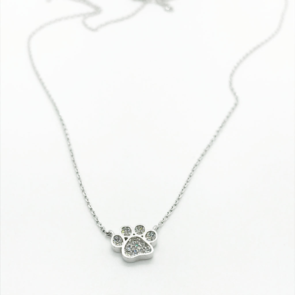 Bling Puppy Paw Necklace