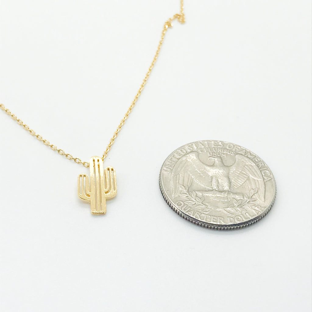 Cactus Necklace-Gold