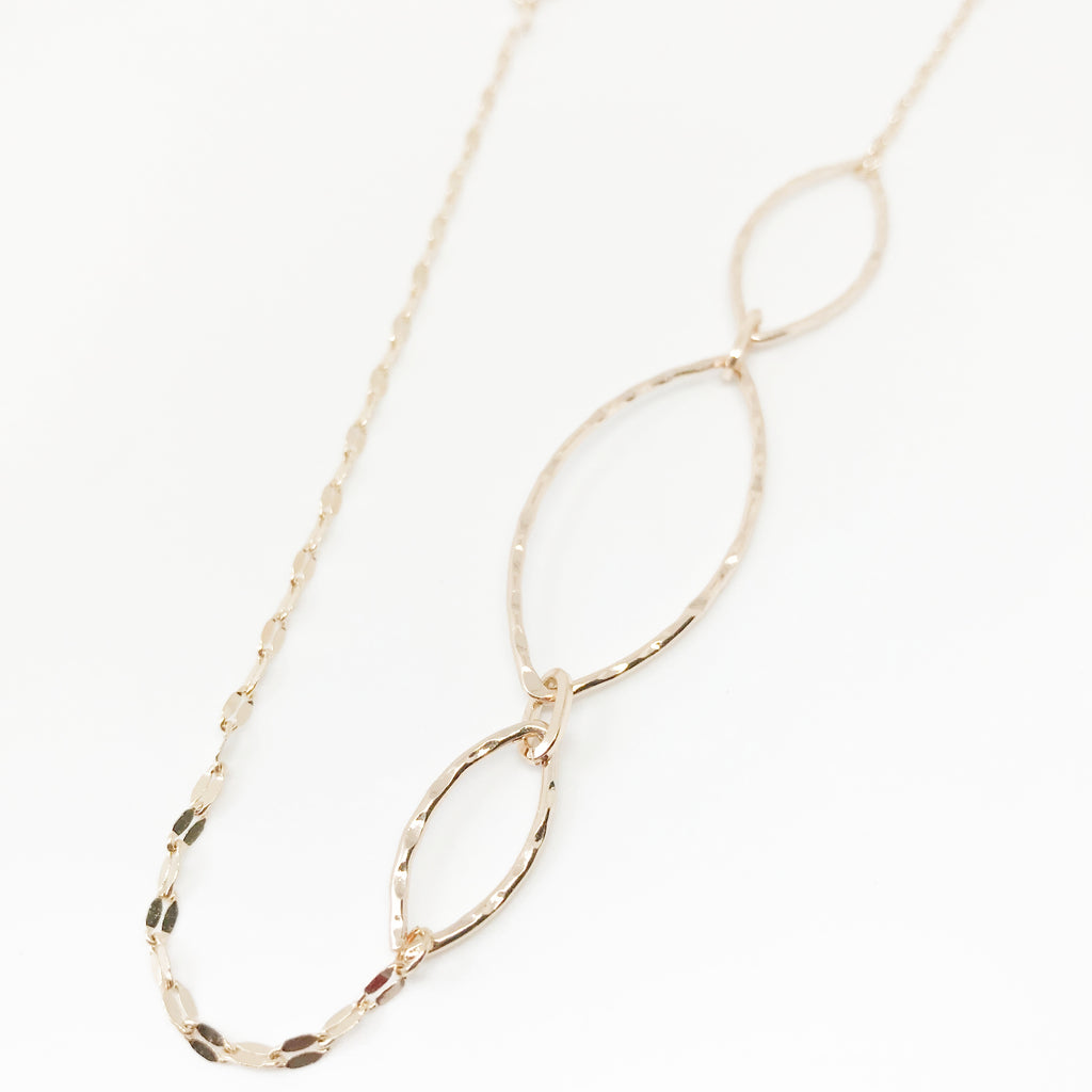 Metallic Gold Opera Necklace