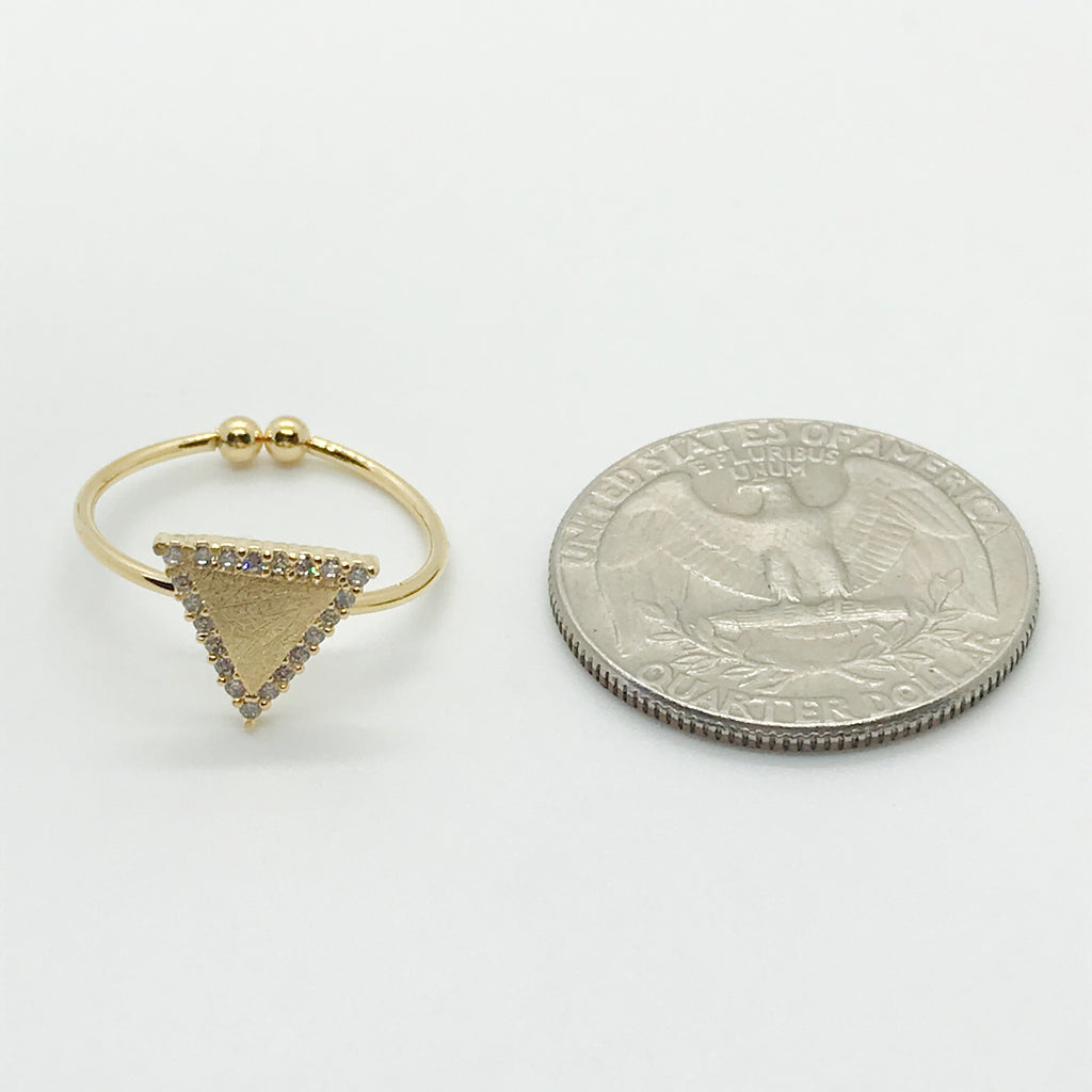 Bling Triangle Ring-Gold