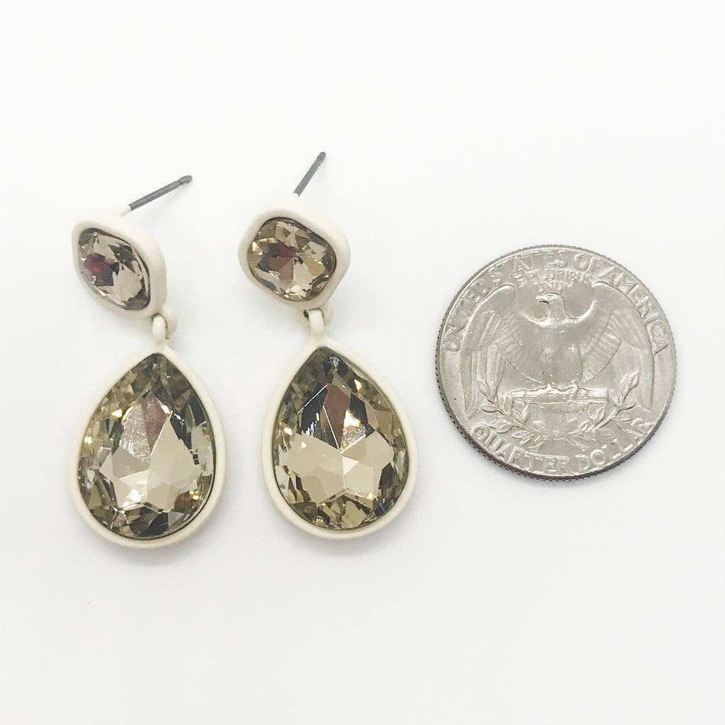 Topaz Faceted Tear Drop Earrings