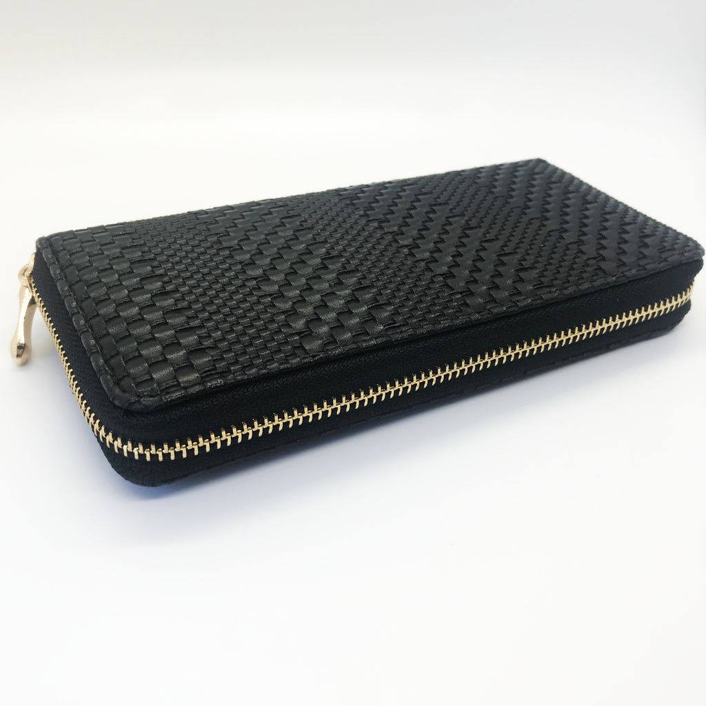 Textured Wallet-Black