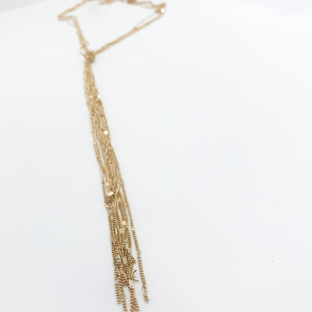 Gold Knotted Necklace