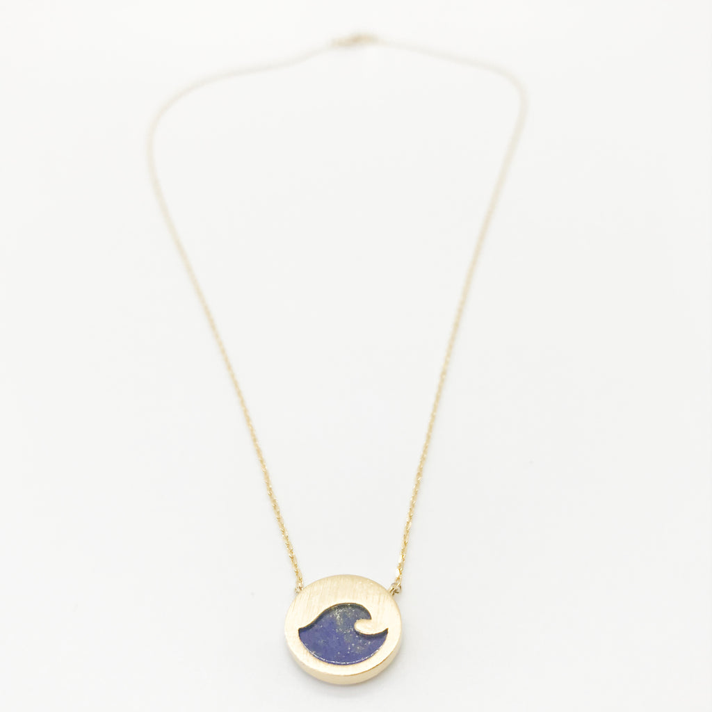 Blue Wave Pendant Necklace