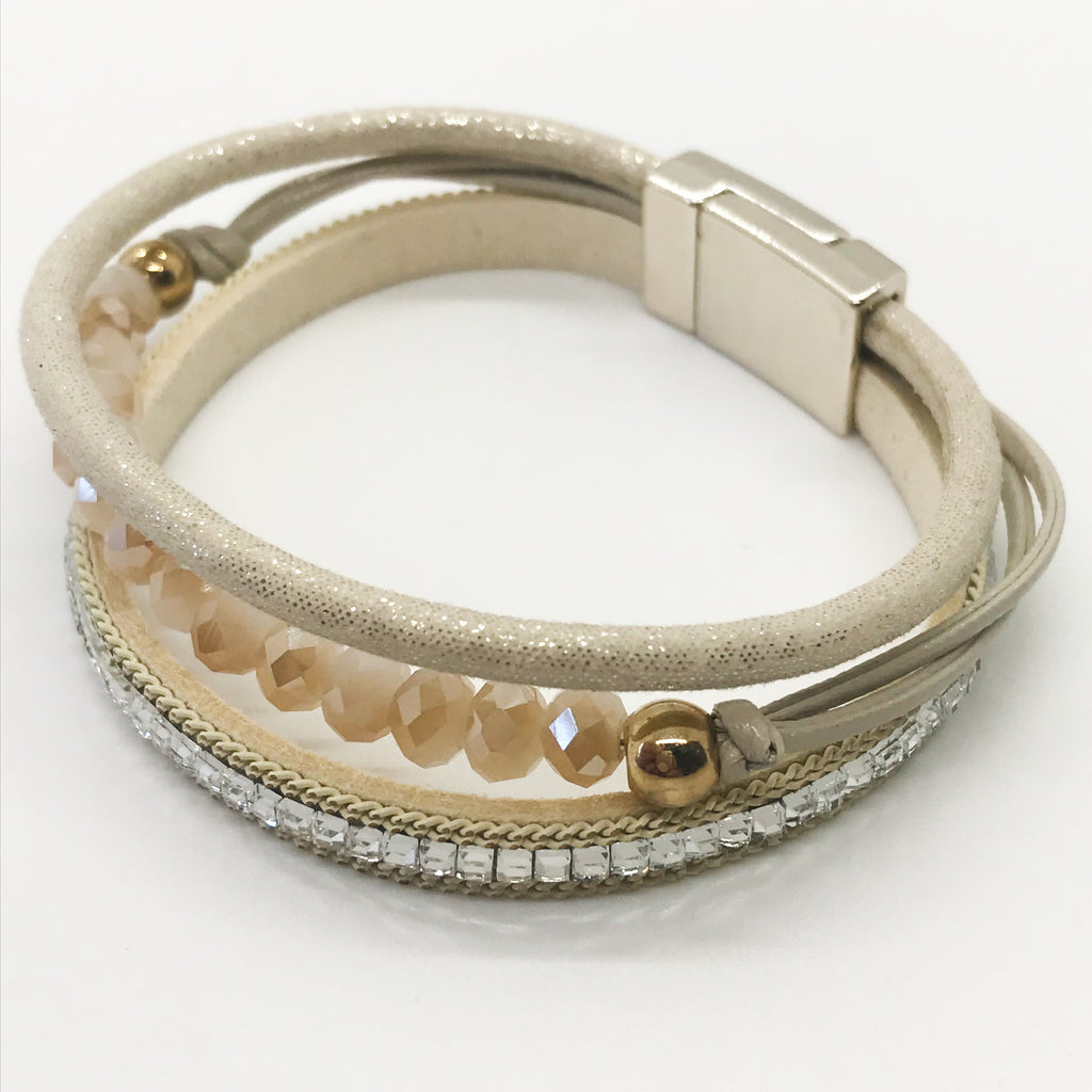 Layered Glass Stone Bracelet