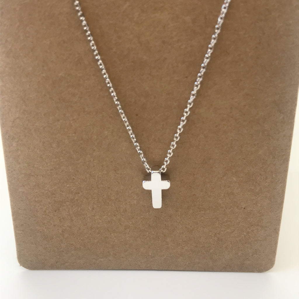 Cross Necklace- Silver